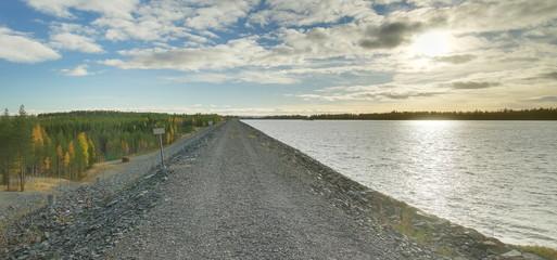 Dam at Gallejaur in Vasterbotten in Sweden
