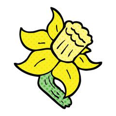 comic book style cartoon daffodil