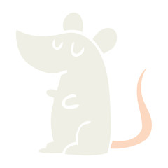 flat color illustration cartoon mouse