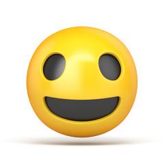 Happy emoticon 3D