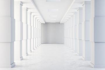 Minimalistic concrete tunnel interior