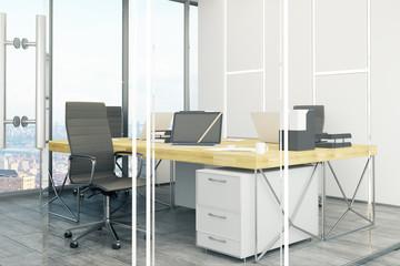 Daylit office interior