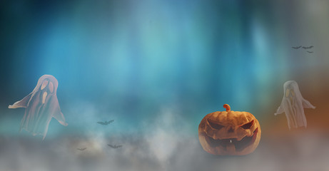 Halloween 3d-illustration background