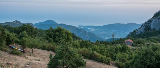 Panoramic view in mountains, Montenegro
