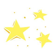 flat color illustration cartoon decorative stars