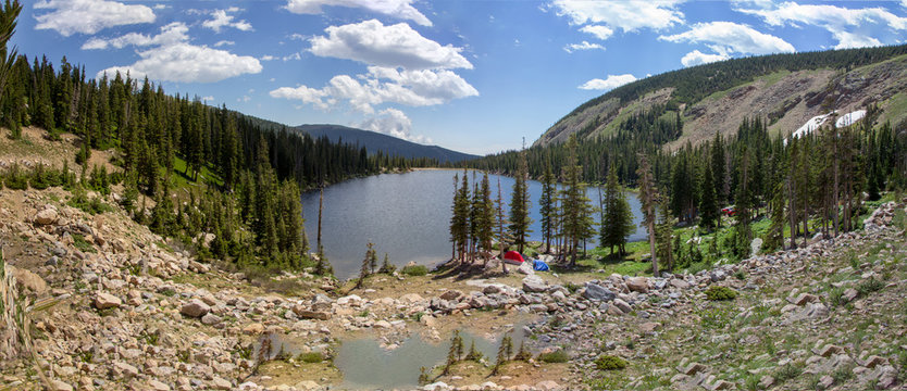 Mountain Lake Panorama 1