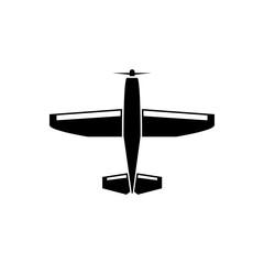 Light aircraft vector icon