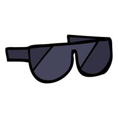 hand drawn doodle style cartoon sunglasses