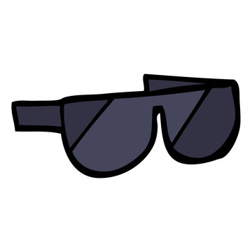 hand drawn doodle style cartoon sunglasses