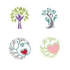 Medicine Pediatric Different Logo Set