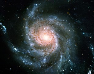 Color-Enhanced Pinwheel Galaxy Messier 101 Universe Nebula Background Wallpaper Original Image by...