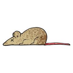 grunge textured illustration cartoon dead rat