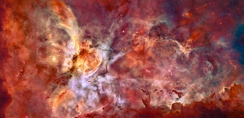 Star Forming Region Recolored Red Nebula Galaxy Universe Background Wallpaper Original Image by NASA/ESA/N. Smith/The Hubble Heritage Team