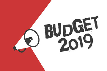Word writing text Budget 2019. Business concept for New year estimate of incomes and expenses Financial Plan.