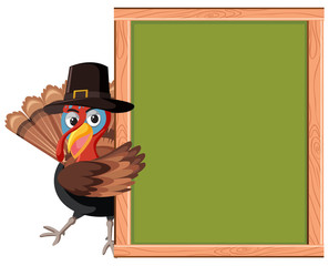 Turkey with empty frame