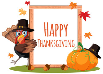 happy thanksgiving card concept