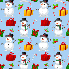 Seamless christmas theme pattern