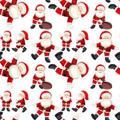 A Seamless santa patterns