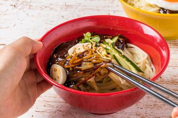 韓国ジャージャー麺 jajangmyeon Korean noodles