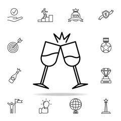 glasses clink glasses icon. Succes and awards icons universal set for web and mobile
