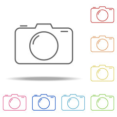 camera icon. Elements of Web in multi colored icons. Simple icon for websites, web design, mobile app, info graphics
