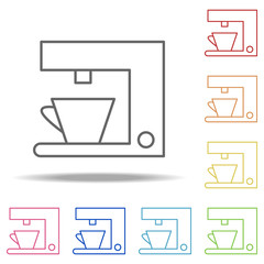 coffee machine icon. Elements of Web in multi colored icons. Simple icon for websites, web design, mobile app, info graphics