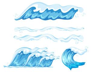 Set of wave element