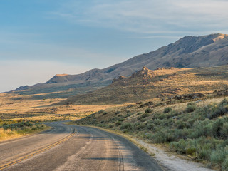 Landscape of Antelope Island State Park