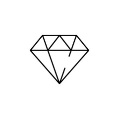 crystal, diamond icon. Element of business start up icon for mobile concept and web apps. Thin line crystal, diamond icon can be used for web and mobile