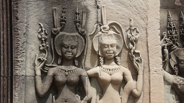 Apsara, in Indian religion and mythology, one of the celestial singers and dancers who, together with the gandharvas, or celestial musicians, inhabit the heaven