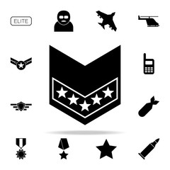military rank icon. Army icons universal set for web and mobile