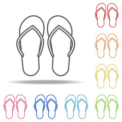 flip-flops icon. Elements of Camping in multi colored icons. Simple icon for websites, web design, mobile app, info graphics