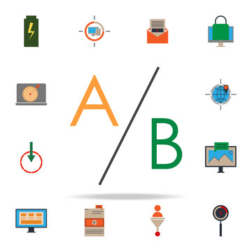 colored multivariate testing icon. marketing icons universal set for web and mobile