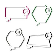 Modern creative quotation box,bubble speech talk frame element template.vector