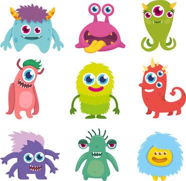 Funny Cute Little Monster Set