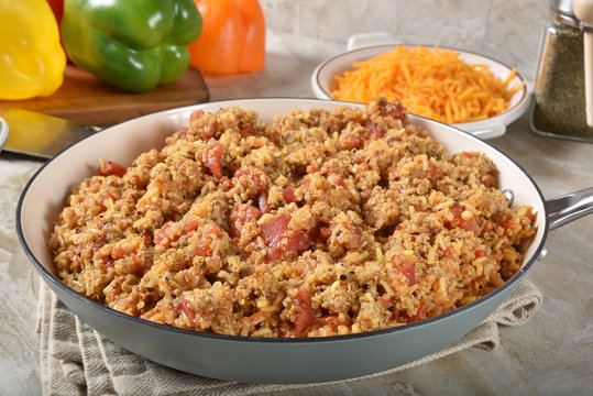 Sausage rice mix for stuffed bell peppers