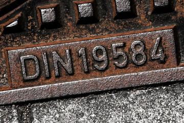 DIN19584 Schachtabdeckung Gusseisen