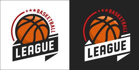 Illustration of modern basketball league logo