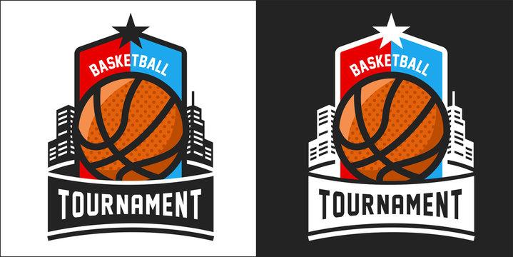 Modern professional logo for a basketball tournament