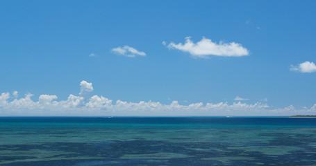 Beautiful sea and sky in Ishigaki Island