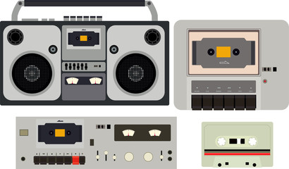 Tape cassette player with many type