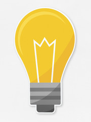 Flat light bulb vector illustration