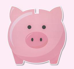 Piggy bank for saving money icon