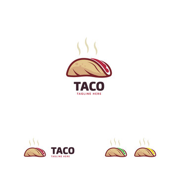 Taco Logo designs template, Hot Taco Logo designs concept vector
