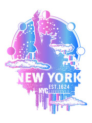 New York tattoo and t-shirt design
