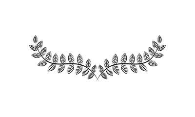 Decorative floral Ornament for text