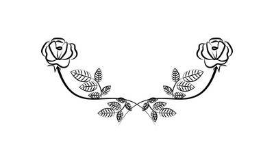 Decorative floral Ornament for text