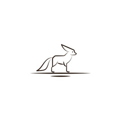 desert fox, animal icon. Element of desert icon for mobile concept and web apps. Hand draw desert fox, animal icon can be used for web and mobile