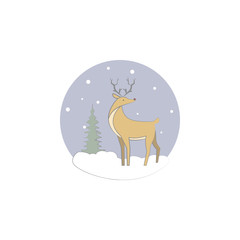 Christmas, deer, reindeer icon. Element of Christmas for mobile concept and web apps. Colored Christmas, deer, reindeer illustration can be used for web and mobile