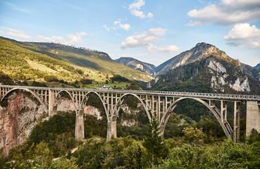 Bridge Dzhurdzhevicha. Montenegro. Summer.